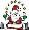 Santa Claus with a Ring of Stars clipart