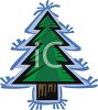 Simple Christmas Tree Design clipart