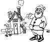 Santa's Elves Working on Santa's Workshop clipart