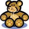 Cartoon Teddy Bear Icon clipart