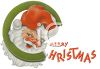 Santa Christmas Graphic with Merry Christmas clipart
