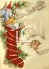 Little Girl Asleep in Her Bed Dreaming of Christmas clipart