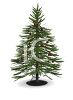 Isolated Fir Tree Decorated for Christmas clipart