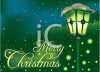Illuminated Streetlight with Merry Christmas Message clipart