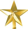Golden Beveled Star Christmas Tree Topper clipart