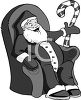 Department Store Santa Sitting in a Chair Waiting for the Children clipart