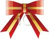 Festive Gold and Red Gift Bow clipart