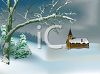Country Church in the Snow clipart