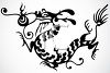 Chinese Dragon Tattoo Design clipart
