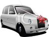 Realistic Luxury Car with a Bow  clipart