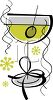 Martini with an Olive Served as a Party Cocktail clipart