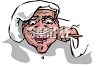 Fat Chef Tasting His Food clipart