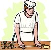 Pretzel Maker Rolling Dough clipart