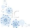 Winter Snowflakes Christmas Corner Border Design clipart