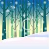 Snow Falling in the Woods clipart