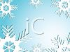 Page Border of Snowflakes on a Blue Sky clipart