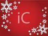 Snowflake Page Border in White on Red clipart