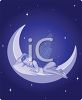 Faerie Sleeping on the Moon clipart