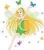 Nature Faerie Playing with Butterflies clipart