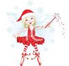 Christmas Faerie with Her Wand clipart
