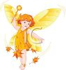 Nature Faerie with Autumn Leaves clipart