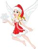 Christmas Faerie Holding a Snowflake clipart