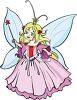 Cartoon Faerie with Wings and a Tiara clipart