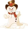 Snowman Doing a Little Dance clipart
