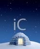 Igloo Under a Starry Sky clipart