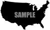 Silhouette of the United States clipart