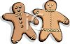 Gingerbread People with Icing clipart