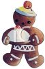 Gingerbread Man Holding a Cookie clipart
