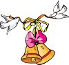 Doves Carrying Bells clipart