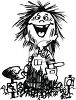 Cartoon of a Funny Kid Covered in Dirt from Gardening clipart