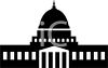 Silhouette of the Capitol Building in Washington clipart