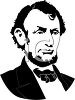 Silhouette of Abraham Lincoln clipart