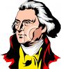 Thomas Jefferson - American President clipart