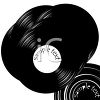 Old School Vinyl Record Albums clipart