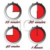 Clock Icons Showing Various Time Segments clipart