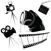 Set of Various Cinema Objects clipart
