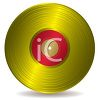 Gold Record on Vinyl clipart