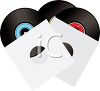 Retro Records in Sleeves clipart
