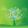 Tree Design on a Green Background clipart