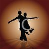 Silhouette of a Male Dancer Lifting His Partner clipart