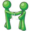 Gentlemen Shaking Hands clipart