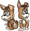 Cute Cartoon Rabbits with Buck Teeth clipart