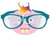 Nearsighted Baby Wearing Huge Glasses clipart