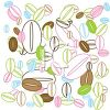 Coffee Beans Background Design clipart