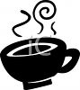 Silhouette of a Cup of Hot Coffee clipart
