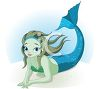 Cartoon Mermaid on the Ocean Floor clipart